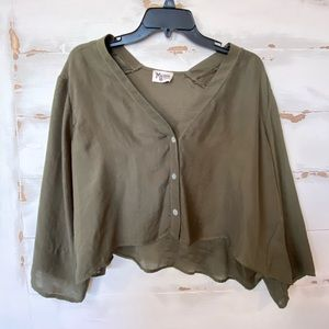 Show Me Your Mumu Cropped Button Up Blouse